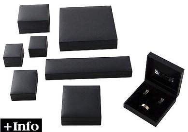 Estuche papel imitacion polipiel negro. Serie Neo