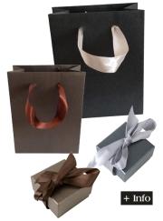 Cajas de carton. Cajas con lazo. Serie Fashion marron