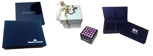 Cajas plastificada Mate o brillo  - Cajas desmontables  - Cajas con interior especial