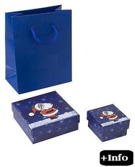 Caja de carton para navidad. Serie Santa Claus