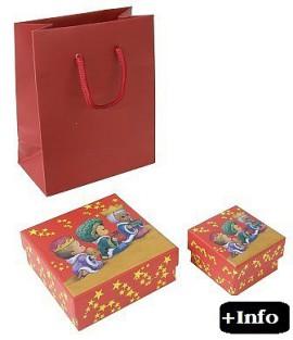 Caja de carton para navidad. Serie Reyes