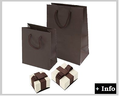 Caja de carton con lazo serie deluxe